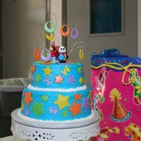 Webkinz Birthday Cake Birthday cake for my son who is crazy about Webkinz. Authentic Webkinz figures on top of cake.