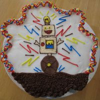 Robot Cupcake Cake This is a cupcake cake for my son to take to school tomorrow for his 7th birthday. The robot comes from a picture that he drew and I...