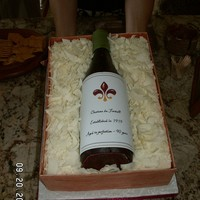 Wine Bottle Made for my f-i-l's 90th birthday. Definitely not perfect, but he really enjoyed it.