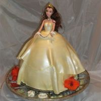 Doll Cake This is my 2nd doll cake, and this time with the advice of you CC ladies. This was a chocolate cake with white chocolate icing, with Satin...