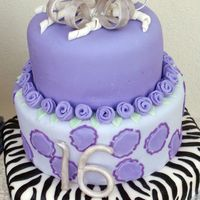 Ashley Sweet 16 This was for my niece's 16th birthday. She requested purple with some silver, but I surprised her with the zebra print because she has...