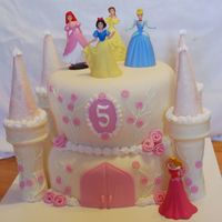 Princess Castle Cake Cake was for my daughter's 5th birthday. Bottom cake is a dummy, top is strawberry with lemon filling, BC and Michelle Foster's...