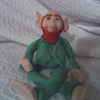 Fondont/gumpaste Leprechaun This is my first attempt to create a figure. This leprechaun goes on the top of my St. Patrick's Day birthday cake