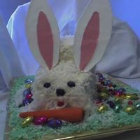 Easter/bunny Rabbit Cake I carved this cake for Easter. The cake is appropriately carrot cake with buttercream icing and coconut for fur. The carrot is made of...