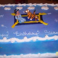 Princess Jasmine this is a cake i did for a friends daugter its a princess jasmine cake i bought the doll at walmart, MMF rug