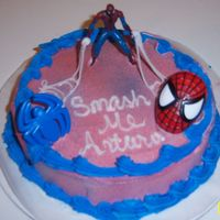 Smash Me Spiderman spiderman smash cake