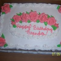 100_1909.jpg a buttercream frosted cake for a woman at my dad work