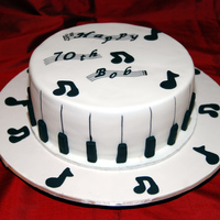 70Th Birthday Cake For Bob Cake for a man who loves music and playing the piano