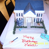 "Graceland 3 layers of ""Elvis' Favorite Pound Cake"". Fondant with gumpaste accents. For a 13 year-old's birthday."