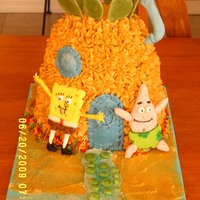 Spongebob Birthday Lots of fun doing this one. Gumpaste figures and details.