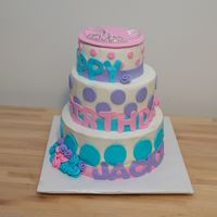 Princess Party Cake Critique subgroup member: This was a tiered cake I made for my cousin's little girl who was having a princess tea party for her 8th...