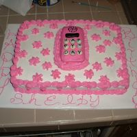 Cell Phone B-Day Cake