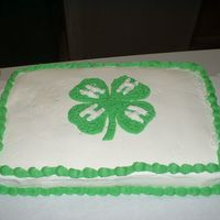 4-H Cake 9 Yr Old Made Cake 9 yr old made for 4-H Club
