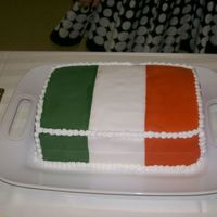 Irish Flag Cake This was the groom's cake at my cousin's wedding. The groom was irish and wanted his flag for the cake. It went over rather well...