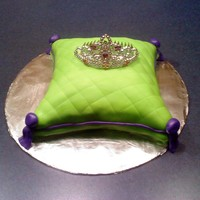 Pillow Cake This is my first Pillow Cake. Top half Butter, Bottom half Chocolate. MMF with a Tiera hair clip for the birthday girl.