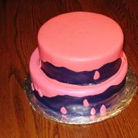 Pink Drip On Purple This was for a Girlie Girl's Graduation/Birthday. The cake is Funfetti with MMF covering.
