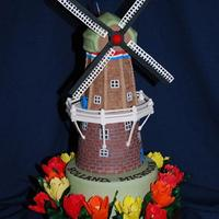 Windmill This cake was done for the 2009 ICES Convention in St. Charles, IL. It was my contribution to a much larger display created by the Jackson...