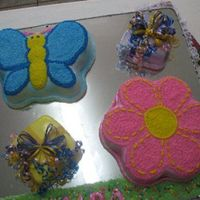 1St Birthday used fondant and then decorated with frosting...there is a number 1 but not clear in the picture