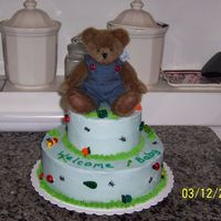 Baby Shower Cake This was a baby shower cake for a little boy. I made the bugs out of fondant and then painted them with food coloring paste. It turned out...