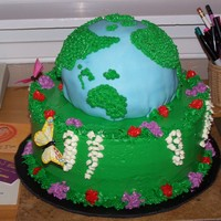 Earth Day   my first and probably last attempt at an earth day cake.