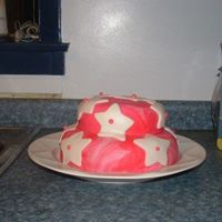 Marble Pink Cake With Stars
