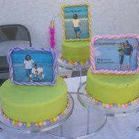 Presentation Party For Miranda First cake I made for my adoptive Daughter MIRANDA. The message on the pictures is: top SHE LOOKED, middle WE LOOKED and Bottom GOD TURNED...