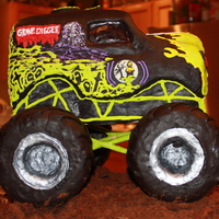 Grave Digger Thank you to Cookye for the neon green color and inspiration and to diane706 for getting the RKT firm enough to hold for the tires. He was...