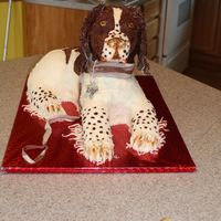 """lilly""  My first carved animal. Lilly is a lemon chocolate with chocolate, hazlenuts and buttercream filling. She is covered in all modeling..."