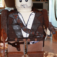 "Indiana Jones Lego Man  Over 2 feet tall and over 30 hours to make. What I learned 'Don't make one so big next time!!!!!!"" The photo the clients..."