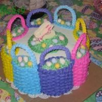 Easter Baskets I did this cake for easter last year. I saw it in a Wilton yearbook and thought it would be fun to try. The baskets are buttercream...