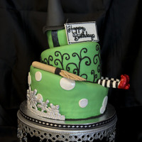 Wicked Birthday Birthday girl requested a Wicked themed topsy turvy tiered cake.