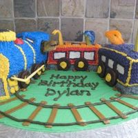 "Dinosaur Train A cake for a boy's 4th birthday...his favourite book at the time was ""Dinosaur Train"""