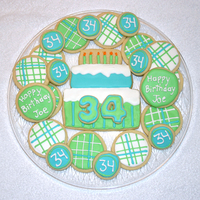 Birthday Cookies   My husband asked me to make some cookies for a friend at work. NFSC with Antonia74 RI