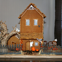 Haunted Gingerbread  This was my first attempt at making my own gingerbread house. We've done the kits before with the little houses but this was much more...