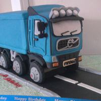 Blue Volvo Lorry made this for a friend who wanted to suprise her husband for his 50th birthday with the lorry that he drives everyday. she did'nt have...