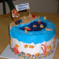 Gone Fishin' This cake was for a two year old's birthday and believe me I didn't want to cut that cake (I attended the party). It took lots of...