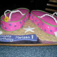 Flip Flop Birthday! This was a cake for a summer birthday. All decorations are edible. TFL