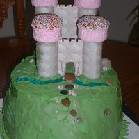 Fairy Princess Only the hill is edible. The castle was constructed by hand from foam board, scrapbook paper, glue, cupcake cones and lots of hard work!...