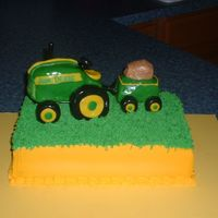 John Deere Birthday All top peices made out of r/k covered with fondant, chocolate cake w. bc. THank you for all the wonderful ideas on this site. It is always...