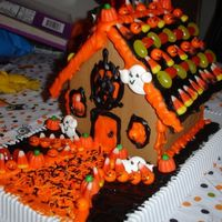 Halloween Gingerbread House Emily's Halloween Gingerbread house. From a kit.