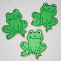 Frogs No Fail Sugar cookies, Antonia's Royal Icing. I enjoyed making these. I had the cutter for over a year but couldn't figure out...