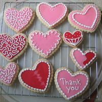 Valentine Cookies No Fail Sugar cookies, Toba Garrett's glace' icing to flood and Antonia's royal icing to decorate. I'm pleased with how...