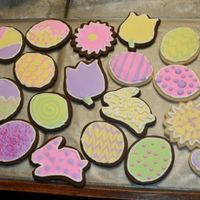 Easter Cookies My very first decorated cookies. I know they are very far from perfect, but I was actually please with some of them considering it was my...