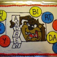 Taz Birthday Cake ALL BUTTERCREAM FROSTING