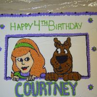 Scooby Doo And Daphne all buttercream frosting