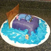 Eyeore Sleeping And Fishing I made this cake for my sister's birthday. Her favorite things are sleeping, eyeore, and fishing. So I decided to incorporate all...