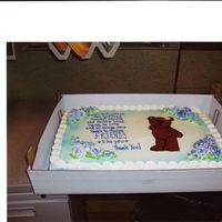 "Thank You For Everything This isn't actually a retirement cake, but a 'thank you"" cake. I start a new job soon and the staff where I worked were very..."