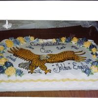 Keystone Oaks Golden Eagle Retirement I was asked by the Kestone Oaks teachers to create a cake for a number of teachers who were retiring and they wanted the eagle drawn on...