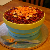 Bowl Of Chili My husband's office had a chili cookoff. This was my entry! Made a cinnamon cake (so I could call it Cincinnati style) with cinnamon...