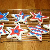 Stars N Stripes Cookies NFSC recipe with royal icing